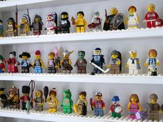 LEGO set database: The ultimate minifigure display solution Playroom Organization, Organized Playroom, Lego Storage, Storage Ideas, Lego Frame, Ribba Frame, Lego Sets, Pretty Good, Giraffe