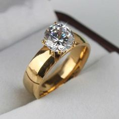 6mm Classic Design 2ct Simulated Diamond Wedding / Engagement Ring