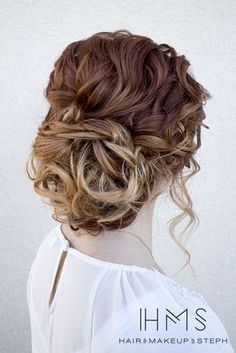 Ombre-Hair-Updo-for-Prom - Frisuren Party Hairstyles For Girls, Homecoming Hairstyles, Fancy Hairstyles, Girl Hairstyles, Wedding Hairstyles, Bridal Hairstyle, Curled Updo Hairstyles, Prom Updo, Up Dos For Medium Hair
