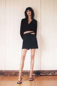 Zara Cut Out Mini Skirt Cute Skirts, Mini Skirts, Women's Skirts, Party Fashion, Girl Fashion, Wrap Blouse, Spring Trends, Who What Wear, Affordable Fashion
