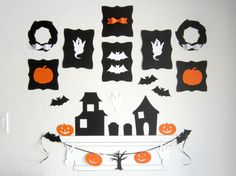 Halloween Decor Set of 5 White Ghost Die Cuts by DesignSprinkle
