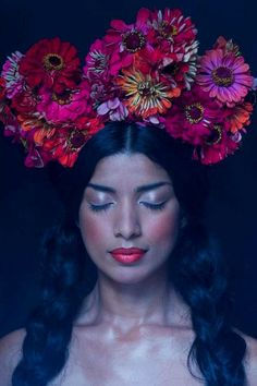 Richard Dunkley #headdress #floral #wreath