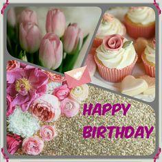 Birthday Stuff, Card Birthday, Birthday Celebration, Happy Birthday Images, Happy Birthday Wishes, Birthday Greetings, Happy Brithday, Flower Cards, Favorite Color