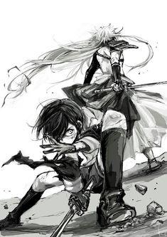 Yagen and Kogitsunemaru Touken Ranbu