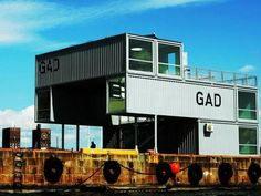 Gad - Recycled Shipping Container Gallery In Oslo.  Shipping Container Prefab Architecture At Its Best.