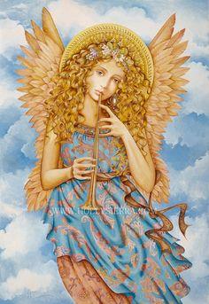 Renaissance Angel  A Florentine Goddess Of Song by HollySierraArt