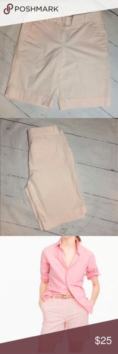 """J. Crew Summerweight Chino short Perfect condition. Look brand new!  These are a size 2 in """"Pink Wash"""".  Ready to ship.  I accept all reasonable offers.  Bundle to save more! J. Crew Shorts"""