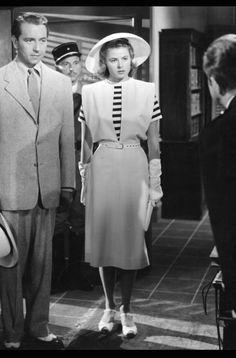 Ingrid Bergman in Casablanca. Costumes designed by Orry-Kelly.