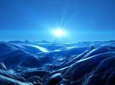 Assim que brilha, azul surge.