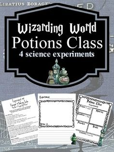 Wizards Potions Class science experiments & a potions book) Harry Potter Writing, Harry Potter Day, Harry Potter School, Harry Potter Classroom, Harry Potter Potions, Science Fair Projects, Science Experiments, Science Education, Harry Potter Activities