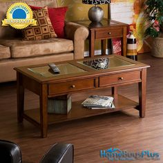 Panorama Walnut Cocktail Table Coffee Display Case Glass Top Brass.  $249.99
