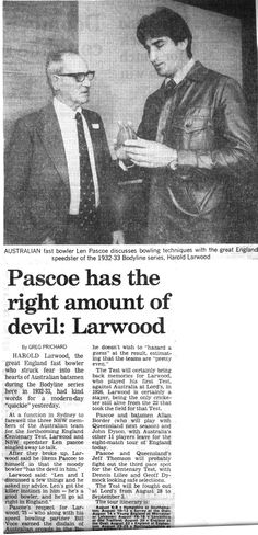 This is one of my favourite moments meeting Harold Larwood