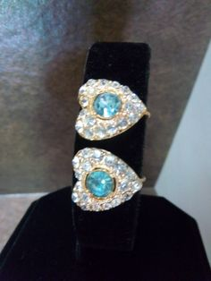 Vintage Aquamarine Glass Faceted Crystal by Sarasvintageattic, $11.00