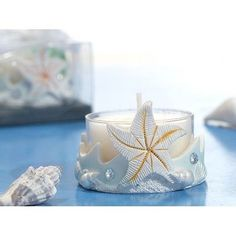 Beach Theme Starfish Tea Light Candle Holders Wedding Favors Bridal Shower
