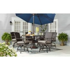 Member's Mark Agio Heritage Balcony-Height Patio Dining Set with Sunbrella Fabric, Dove Gray - Sam's Club 60 Round Dining Table, Metal Dining Table, 7 Piece Dining Set, Outdoor Dining Set, Outdoor Rooms, Outdoor Living, Outdoor Furniture Sets, Patio Dining, Fire Pit Dining Set