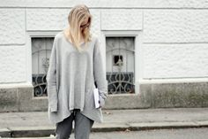 minimal all grey outfit Style Diary, Grey Outfit, Parisian, Lifestyle Blog, Minimal, Bell Sleeve Top, Outfits, Tops, Women