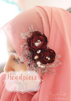 Bunch of dreams: DIY : Headpiece for Hijab