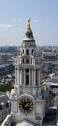 South west tower of St Paul's Cathedral,London