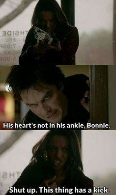 "#TVD 7x19 ""Somebody That I Used To Know"" - Bonnie and Damon"