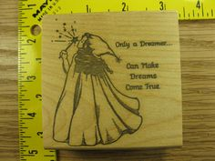 Rubber Stamp Only A Dreamer Can Make Dreams Come True Stampinsisters #1088 in Crafts, Stamping & Embossing, Stamps | eBay
