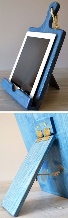 Cutting Board Cookbook Holder + iPad // Android Stand ♥