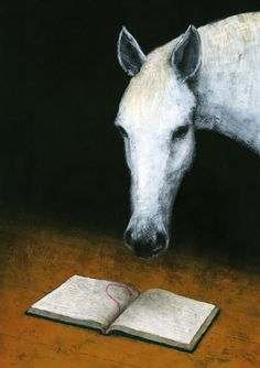 a horse is a horse, and this is a reading horse.