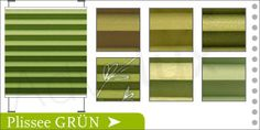 Frühlingshaftes Grün - Plisseerollo und Faltstore für Wohnzimmer, Küche, Bad und WC, Atelier, Büro/Office, Hotel, Pension, Restaurant, Kinderzimmer und Schlafzimmer