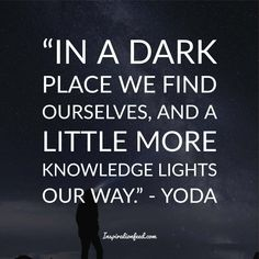 Yoda is one of the most well-known and beloved characters in the Star Wars franchise. Looking for some inspiration from the master himself? Check out these wise Yoda quotes. Star Wars Quotes Yoda, Yoda Quotes, Movie Quotes, Real Life Quotes, True Quotes, Quotes To Live By, Best Quotes, Qoutes, Meaningful Quotes