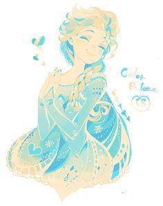 Disneyphile Land: Elsa (from pixiv) #frozen #disney #fanart