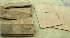 fabriquer un cadre à partir de planches de bois recyclées