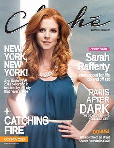 Sarah Rafferty for Cliché Magazine Oct/Nov 2013. Photographed by Quavondo