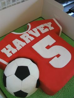 Harvey's Football Shirt Cake by ~gertygetsgangster on deviantART
