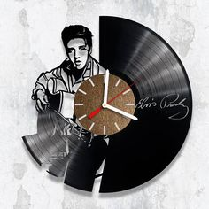 Vinyl Clock, Elvis Presley, Rock Fan Gift, Birthday Gift, Handmade Clock, Handmade Gift, Rock&Roll, Elvis Presley, Handmade Clocks, Handmade Gifts, Elvis Birthday, Old Vinyl Records, Cool Clocks, Music Wall, Best Birthday Gifts, Popular Movies