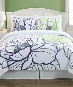 Look what I found on #zulily! Floral Sketch Duvet Cover Set by Echelon #zulilyfinds