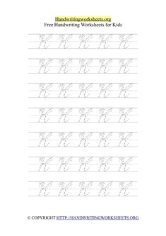 Cursive Alphabet Handwriting Letter Worksheets with Arrows | Handwriting Worksheets Org