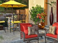 Basic cleaning ingredients are the best way to refresh patio chairs and canvas furniture.