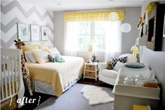 cute gender neutral but still fresh and fun nursery