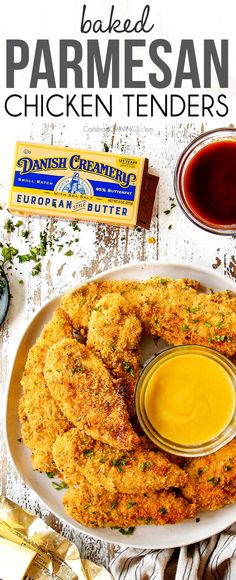 Juicy, crispy Baked Parmesan Crusted Chicken without the hassle or mess of frying! It's exploding with flavor and a golden crunchy, cheesy crust thanks to Danish Creamery Butter! #bakedchicken #chickenrecipes #chicken #chickentenders #Parmesan #Parmesanchicken #dinner #dinnerrecipes #dinnerideas #recipes #easyrecipe #recipes #recipeoftheday #recipeideas #recipeseasy Baked Parmesan Crusted Chicken, Baked Chicken, Turkey Recipes, Chicken Recipes, Dinner Recipes, Cheesy Crust, Chicken Appetizers, Carlsbad Cravings, Chicken Tenders