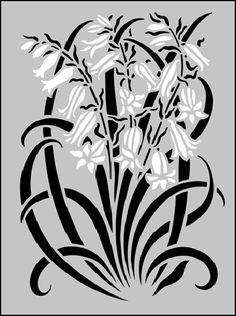 Art Nouveau Motif No 56 stencils, stensils and stencles