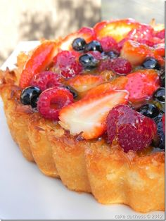Coconut and Berry Passover Tart