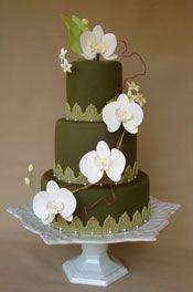 Beautiful Velvet Green Cake
