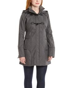 Love this Charcoal Hooded Toggle Coat - Women by Yoki on #zulily! #zulilyfinds