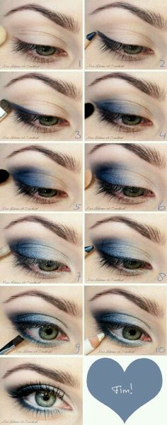 Sombra esfumada azul