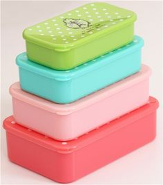 Eiffel Tower and polka dots Bento Box 4 pcs Lunch Box 3