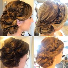 Braided sidedo for bridesmaids  Hair by Schulz Beauty www.schulzbeauty.ca #braidedupdo #bridedsidedo #bridalupdo #bridesmaidhairstyles #bridalhairstyles #braids #TorontoBride #WedLuxe #TorontoHairstylist