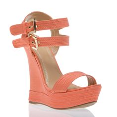 Peach blossom wedge which I would rock with either cute tan shorts or dress up white linen pants...island vibe.