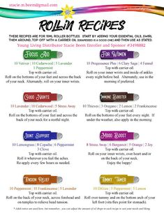 You Know I Love to Share: Young Living Essential Oils Roller Ball Blend Reci...