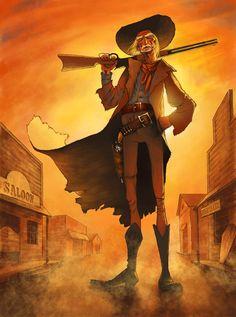 western cartoon character illustration