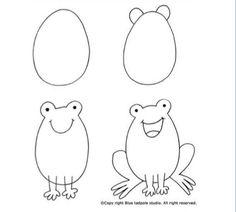 Instrução para desenho infantil - Sapo!