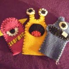 Felt monster puppets